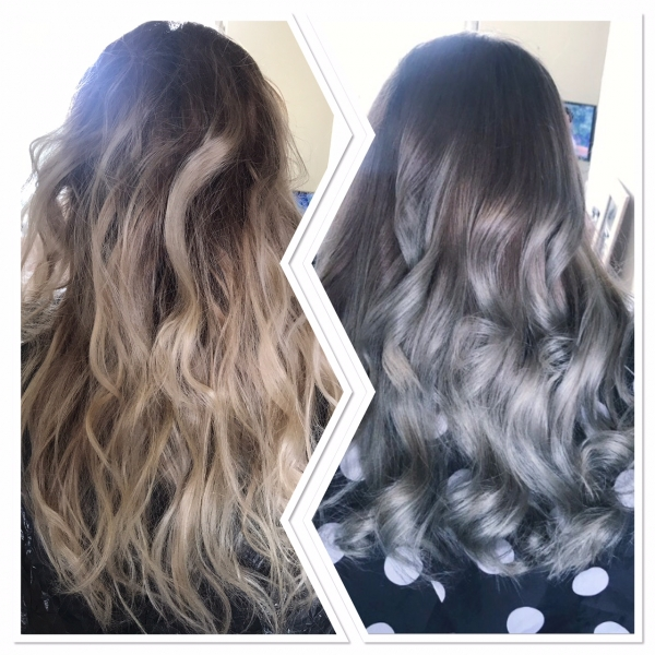 grey hair colour change